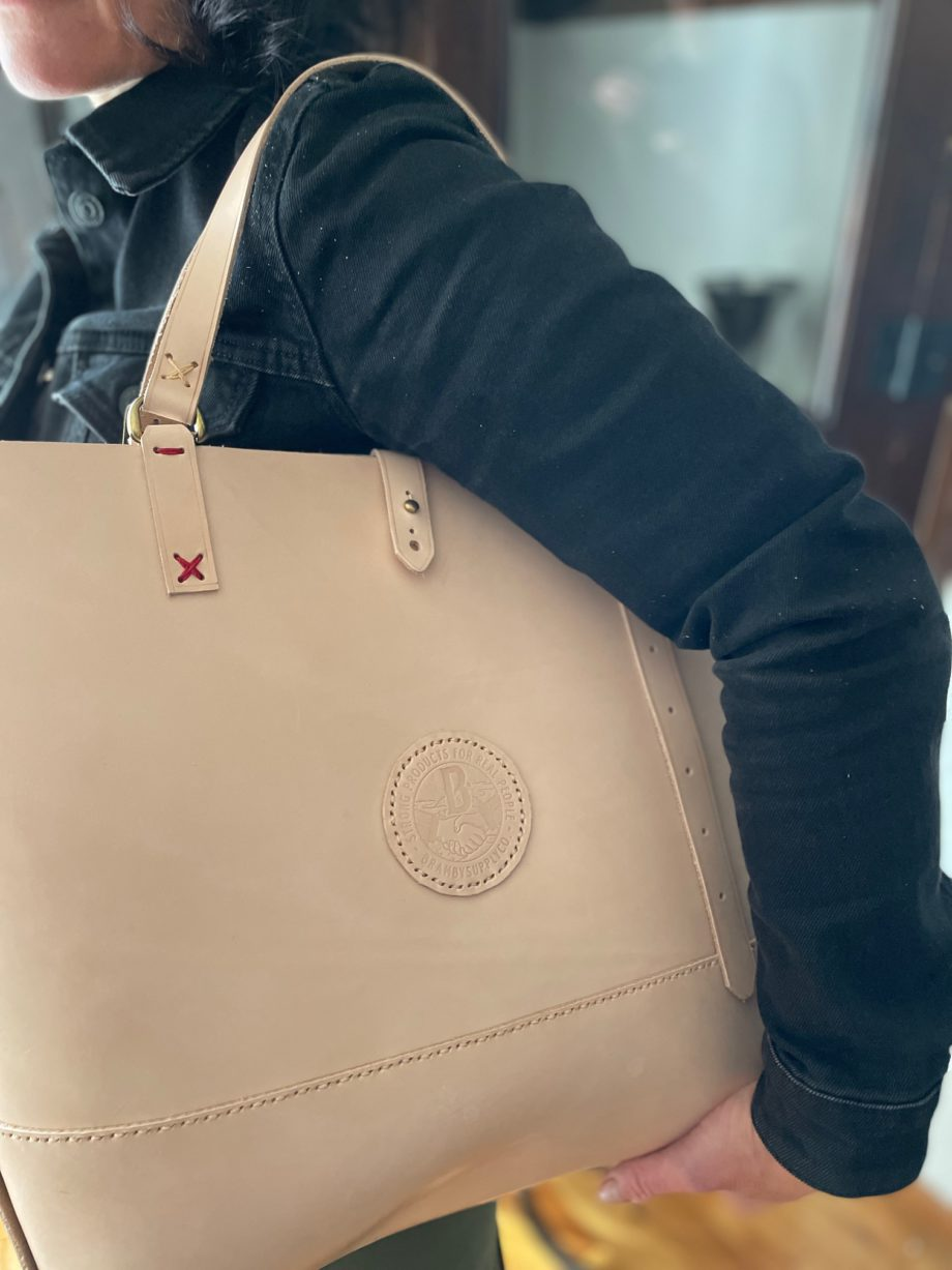Special Leather Tote, Vegetable Tanned Leather-9